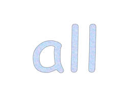 'all' words presentation for letters and sounds phase 3