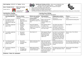 FANTASTIC MR FOX week's lesson plans