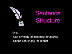 Gothic writing- sentence structure.
