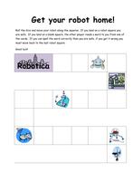 Robot keyword spelling game