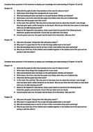 Room 13 questions for chapters 19 and 20