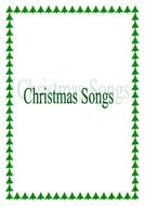 Christmas song sheet