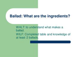 Ballad Ingredients