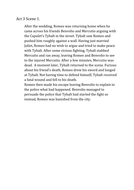 Romeo and Juliet- act 3 scene 1 summary
