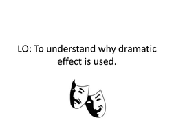 Romeo and Juliet- dramatic effect