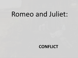 Romeo and Juliet - conflict