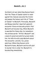Macbeth- summary