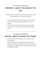 Titanic Speaking and Listening Exercise- raising titanic characters.docx