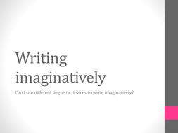 Making your writing imaginative