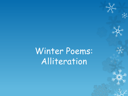 Winter Poems: Alliteration