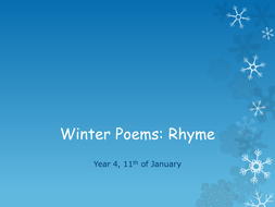 Winter Poems: Rhyme