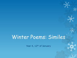 Winter Poems: Similes