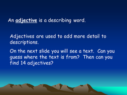 Adjectives and antonyms