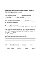 Cloze Activity - 'The Gruffalo' by Julia Donaldson