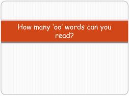 'oo' words PowerPoint