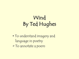 Poetry- Wind Ted Hughs