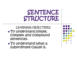 Complex sentences.