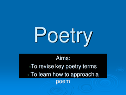 Poetry- how to approach it.ppt