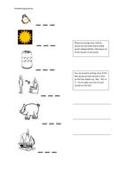 Handwriting practice sheets.