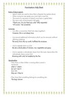 Punctuation Help Sheet