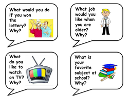 Speaking and Listening Prompt Cards