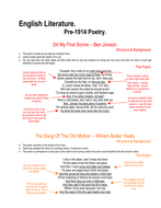 Pre 1914 English Literature Poetry