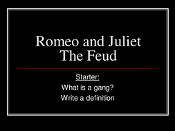 Gangs in Romeo and Juliet