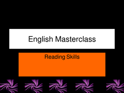 Reading skills PowerPoint