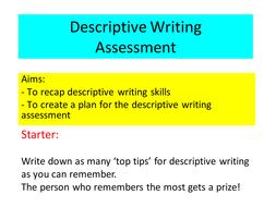 Descriptive writing- planning and visualization