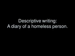 Stone Cold homeless images to help write diary
