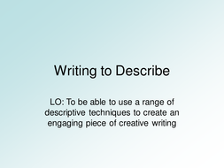 Writing to Describe - Storm.ppt