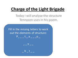 Charge_of_the_Light_Brigade_structure.ppt