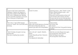 Macbeth Lesson Plans