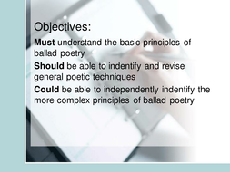 Introduction to Ballad Poetry