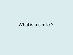 What is a simile ?