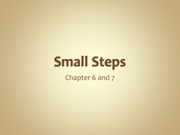 Small Steps chapter 5 and 6.ppt