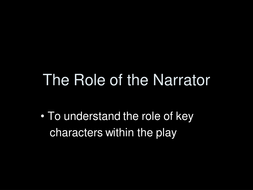 Blood Brothers- the Narrator