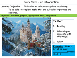 Fairy Tales - an introduction