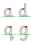 Handwriting formation aids