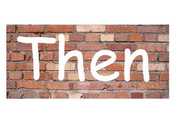 Connective words on bricks