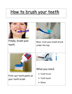 Instructions - How to clean your teeth