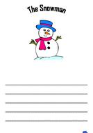 The snowman writing