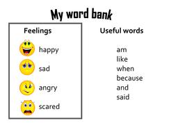 Feelings Word Bank