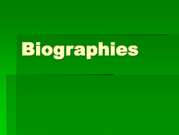 Biographies.ppt
