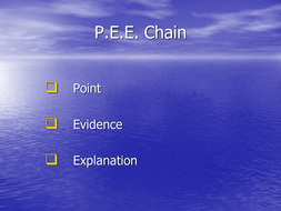 Point; Evidence; Explain Chain