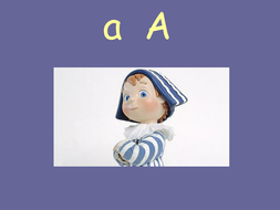 Letter names with cartoon character PowerPoint