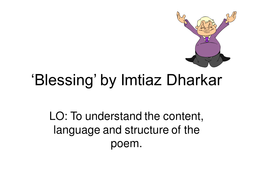 'Blessing' by Imtiaz Dharker