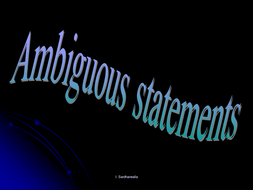 Ambiguous statements.ppt
