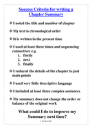 Success Criteria for Letters; Arguments & Summary