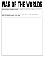 War of the Worlds: Students draw the tripdods